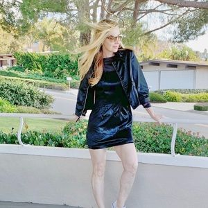 Black Elle jacket with Black Mini Dress!